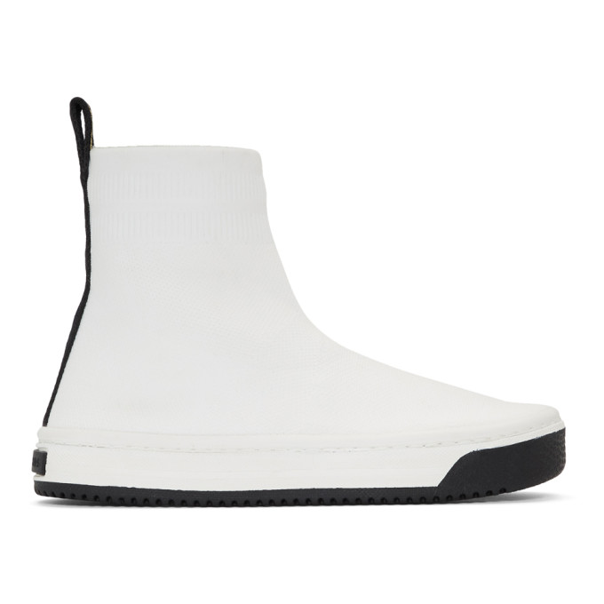Marc Jacobs White Logo Dart Sock Sneakers