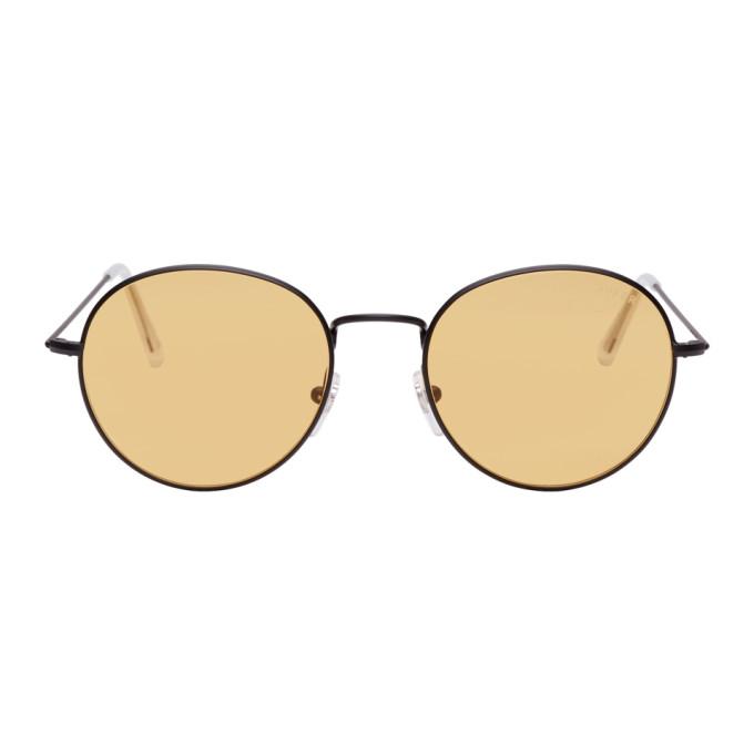 Image of Super Black & Yellow Wire Sunglasses