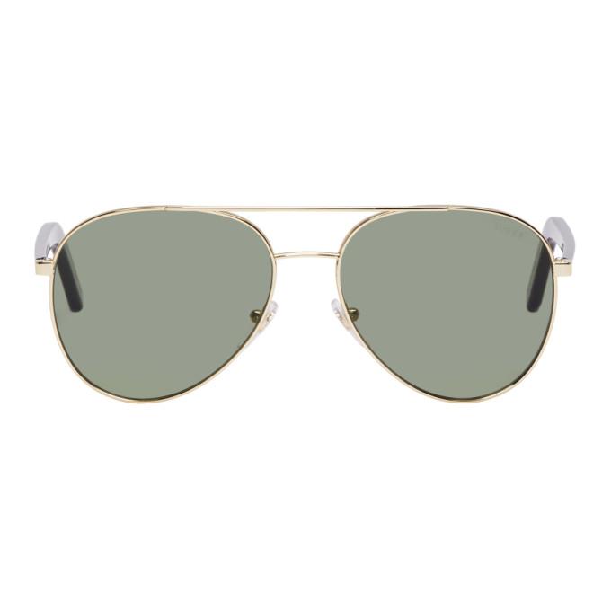 Super Gold & Green Ideal Sunglasses