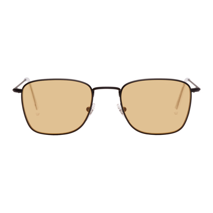 Image of Super Black & Yellow Strand Sunglasses