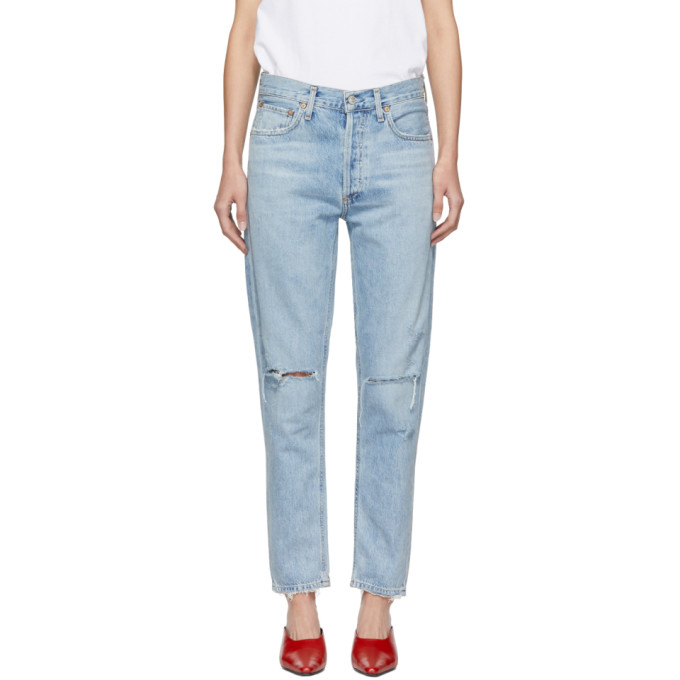 A GOLD E Jamie High Waist Classic Jeans in Shakedown