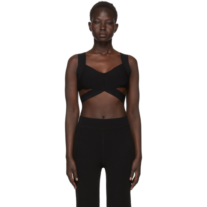 T by Alexander Wang Black Visible Straps Bralette