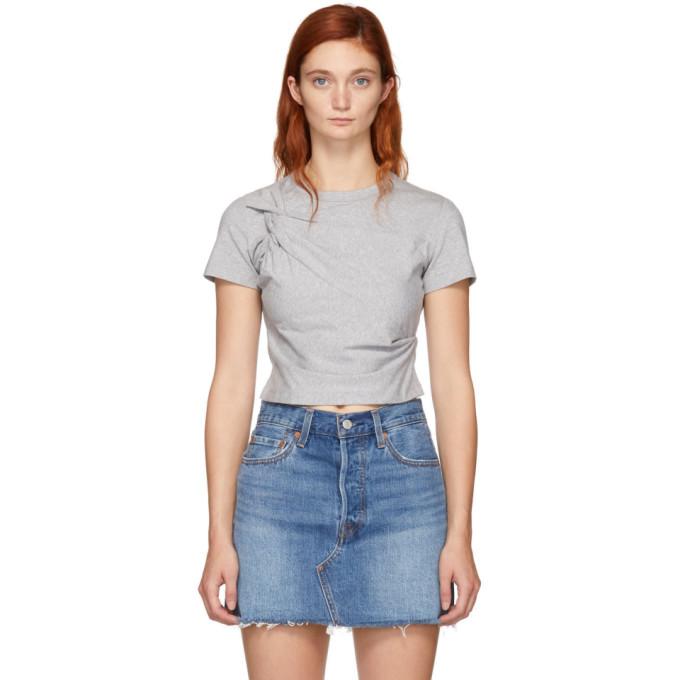 Alexanderwangt Grey Twist Top T Shirt