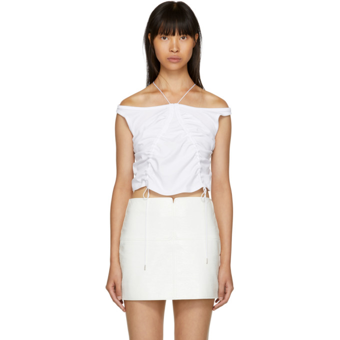 T by Alexander Wang White High Twist Tie Tank Top
