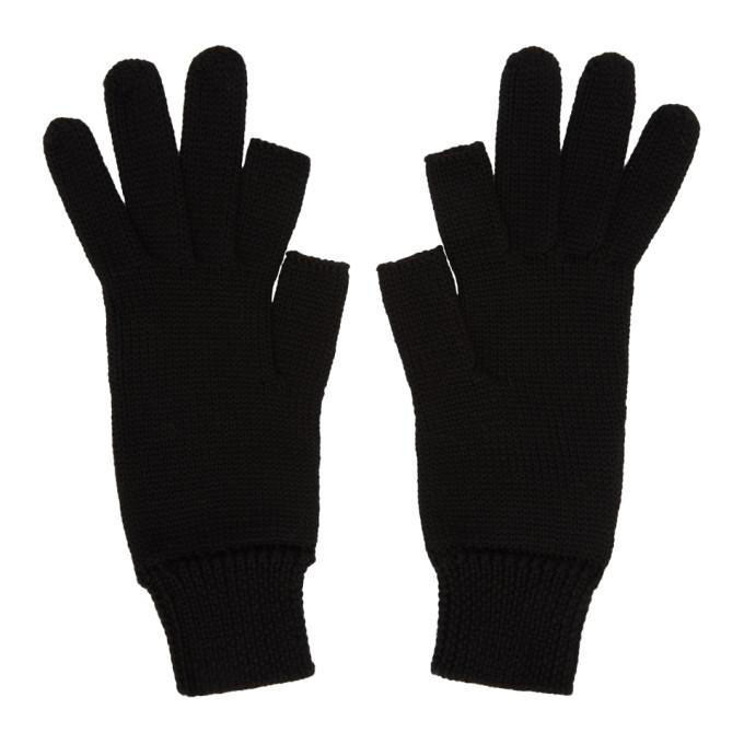 Rick Owens Black Touchscreen Gloves