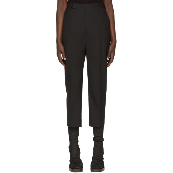 Rick Owens Black Easy Astaire Trousers