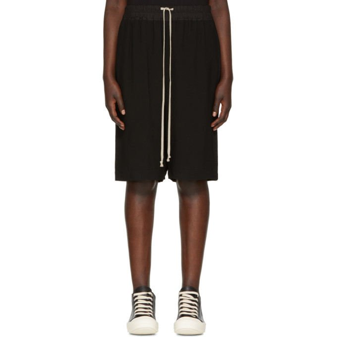 Rick Owens Black Pods Shorts