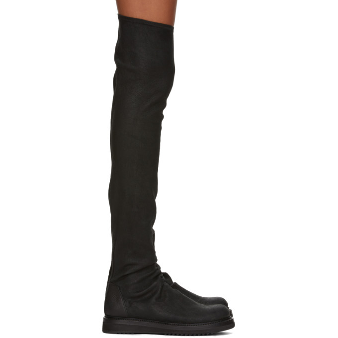 Rick Owens Black Stocking Creeper Boots
