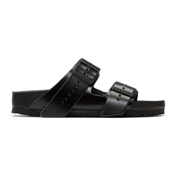 Rick Owens Black BIRKENSTOCK Edition Leather Arizona Sandals