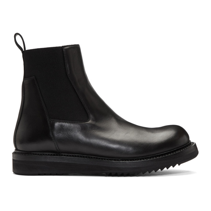 Rick Owens Black Creeper Chelsea Boots