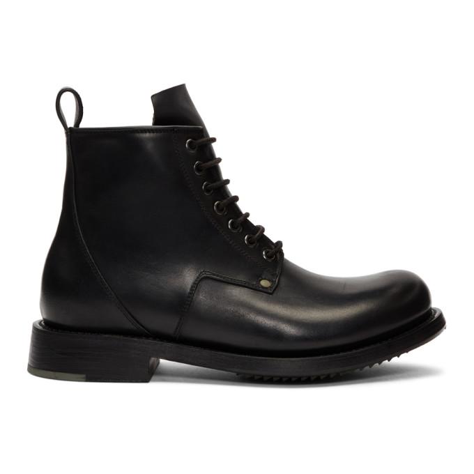 Rick Owens Black Cop Boots