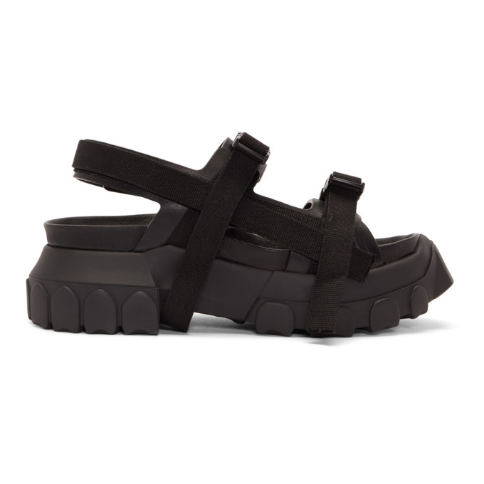 Rick Owens Black Hiking Sandals