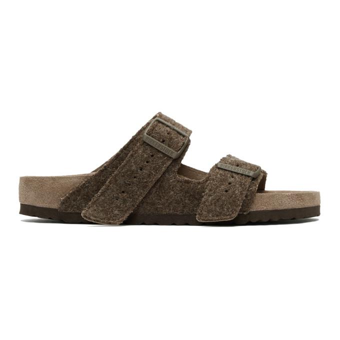 Rick Owens Brown BIRKENSTOCK Edition Wool Arizona Sandals