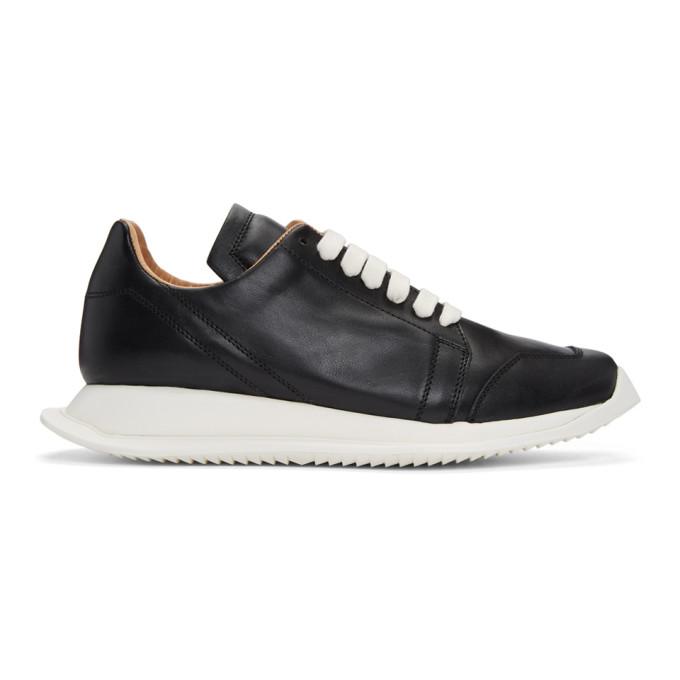 Rick Owens Black Oblique Sneakers