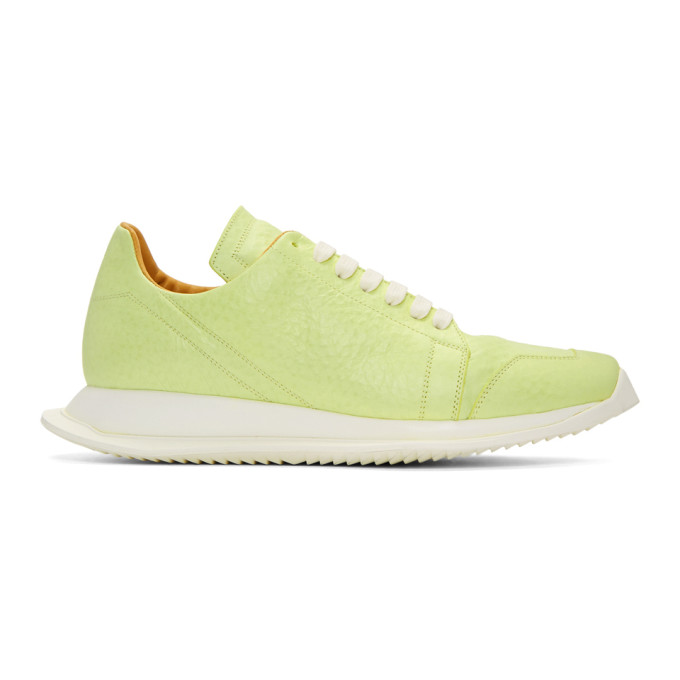 Rick Owens Green Oblique Sneakers