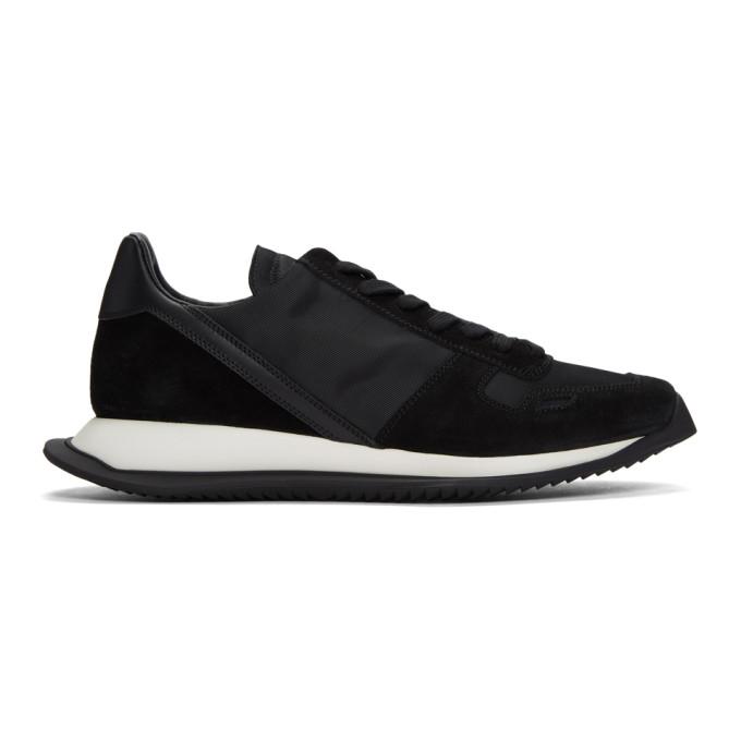 Rick Owens Black New Vintage Sneakers