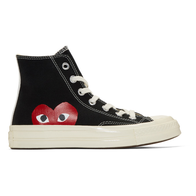 Comme des Garçons Play Black Converse Edition Chuck Taylor All-Star '70 High-Top Sneakers
