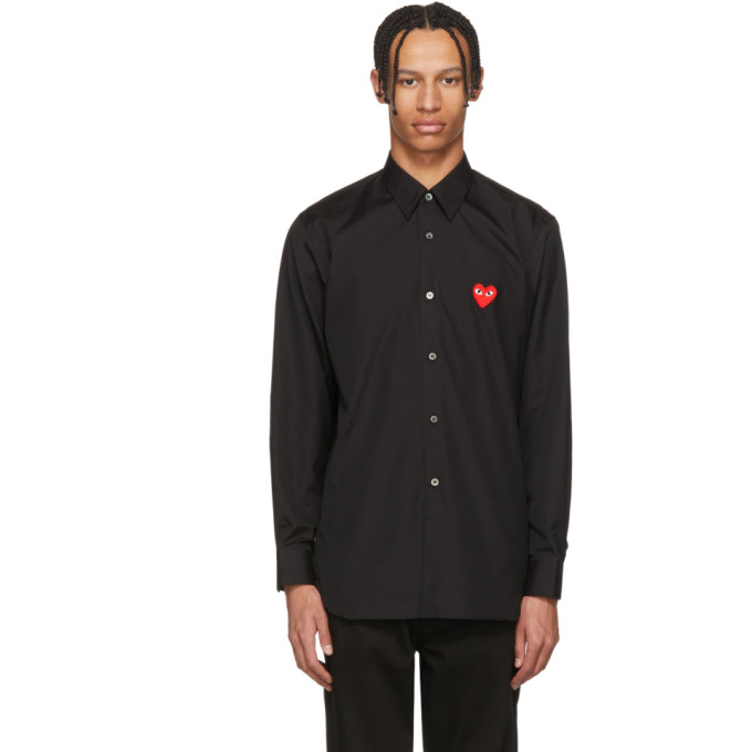 Image of Comme des Garçons Play Black Heart Patch Shirt