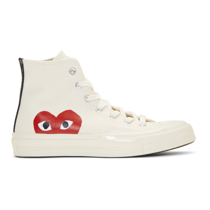 Comme des Garcons Play Off-White Converse Edition Chuck Taylor All-Star '70 High-Top Sneakers