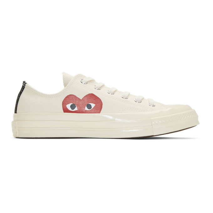 Comme des Garcons Play Off-White Converse Edition Chuck Taylor All-Star '70 Sneakers