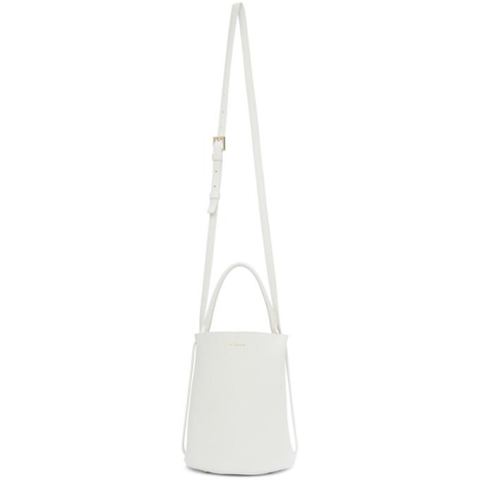 Jil Sander White Small Basket Bag