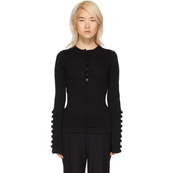 Image of Jil Sander Black Buttons Sweater