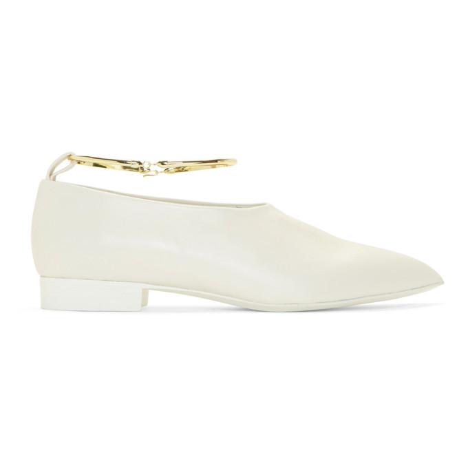 Jil Sander White Pointy Ballerina Flats