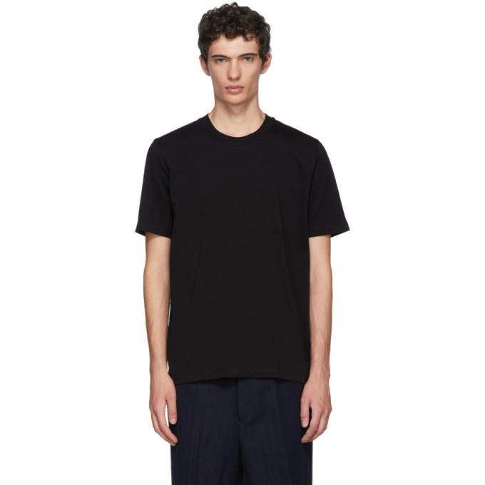 Image of Jil Sander Black Cotton T-Shirt