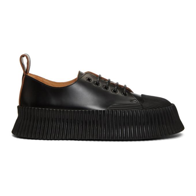 Jil Sander Black Volcun Sneakers