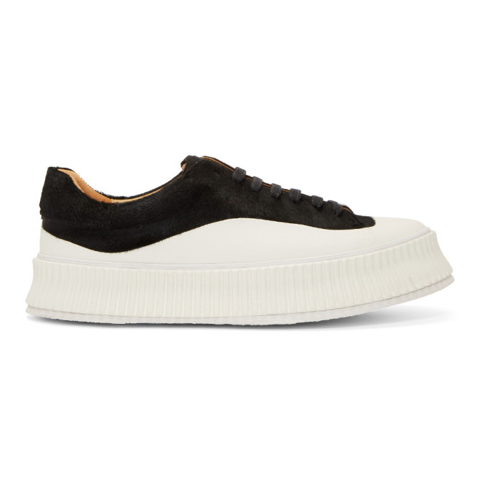 Jil Sander Black Pony Sneakers