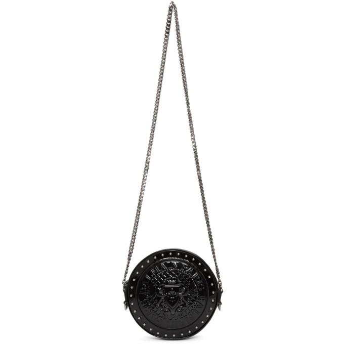Balmain Black Patent Disco Bag