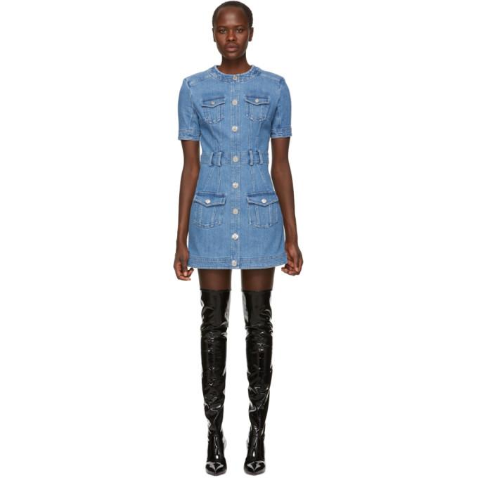 Balmain Denim Mini Dress - Blue