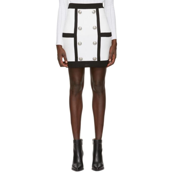 dd5b43f061 Balmain White Tube Miniskirt