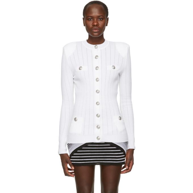 d360519f Balmain White Button Up Cardigan