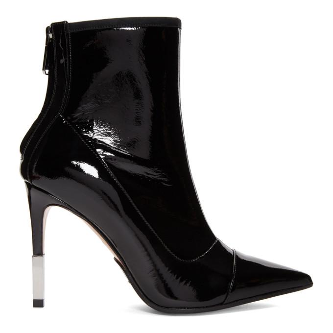 Balmain Black Patent Blair Boots