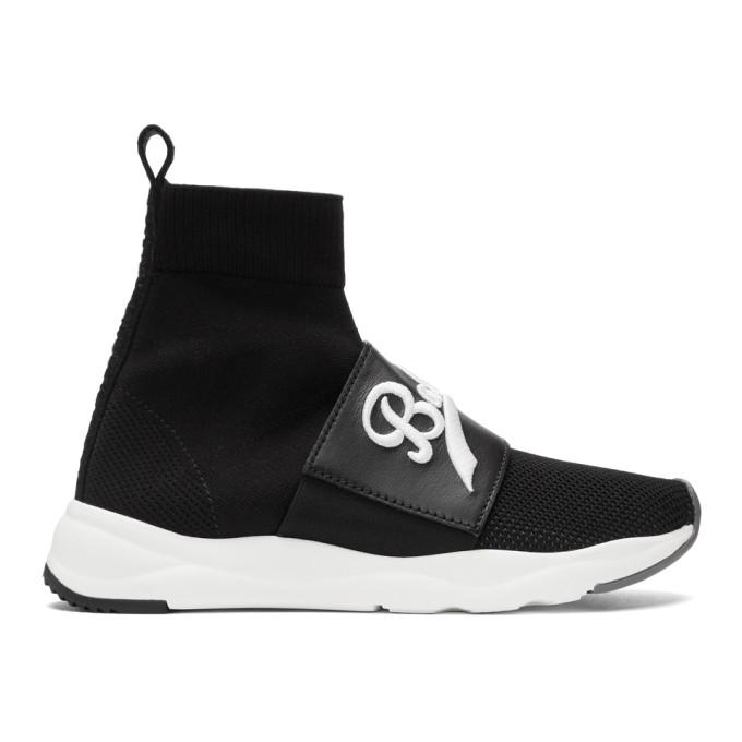 Balmain Black Cameron High-Top Sneakers