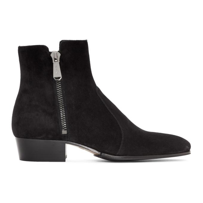 Balmain Black Suede Anthos Boots