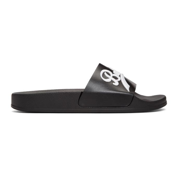 Balmain Black Calypso Slides