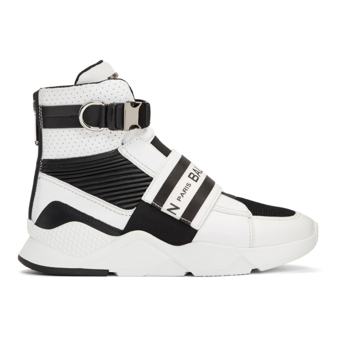 Balmain Black & White Exton Sneakers