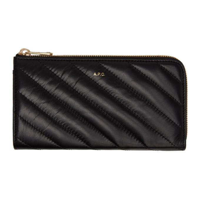 A.P.C. Black Lise Wallet, Lzz Noir