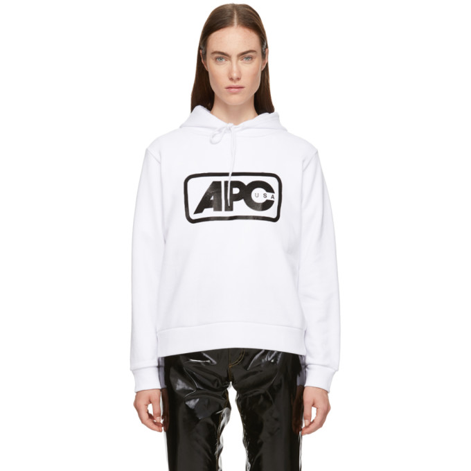 A.P.C. A.P.C. WHITE U.S. VINCE HOODIE
