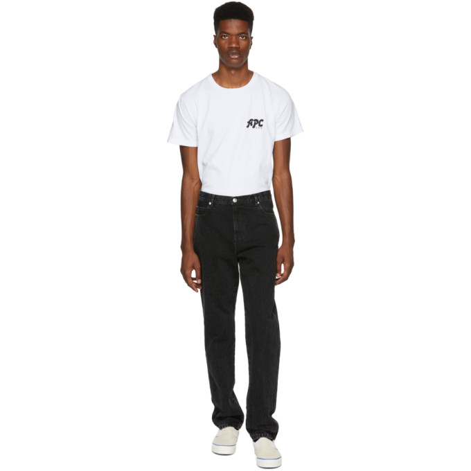Image of A.P.C. Black Baggy Jeans