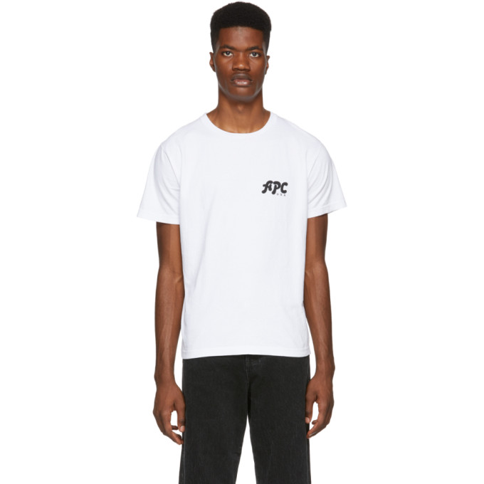 A.p.c. Tops A.P.C. WHITE U.S. RICHIE T-SHIRT