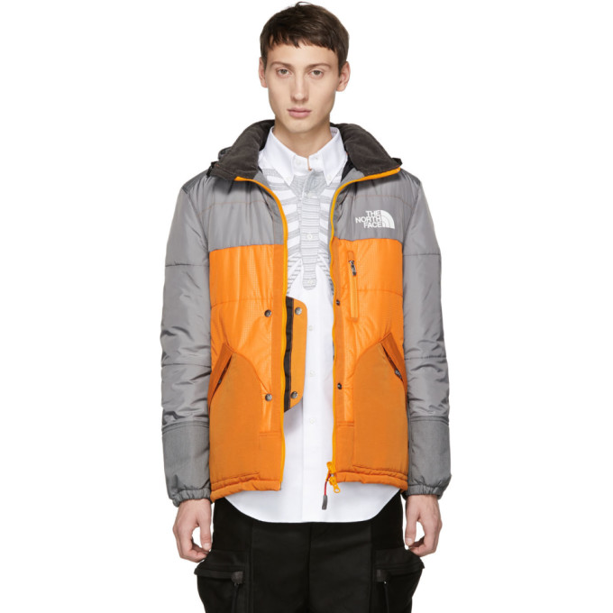 Junya Watanabe Grey & Orange The North Face Edition Sleeping Bag Jacket