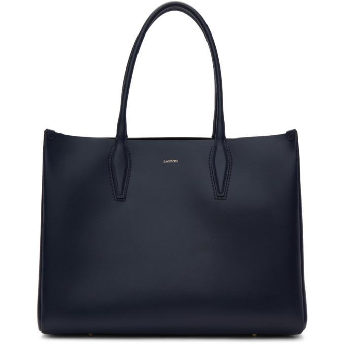 LANVIN Journee Medium Shopper Bag, 291 Midnigh