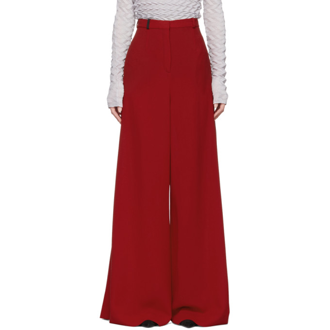 85f9c1b83e Lanvin Red Wide Leg Trousers 182254F08700202