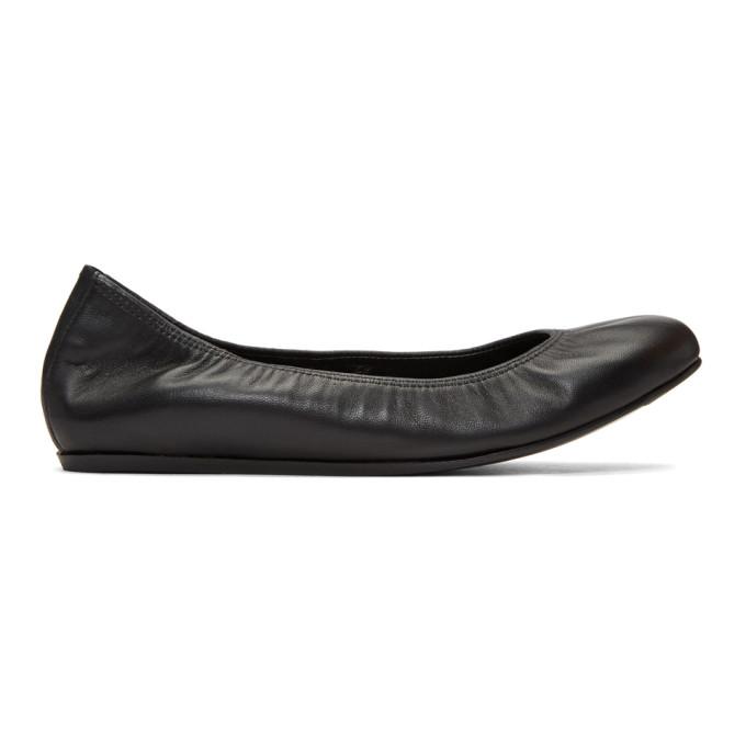 Lanvin Black Nappa Classic Ballerina Flats