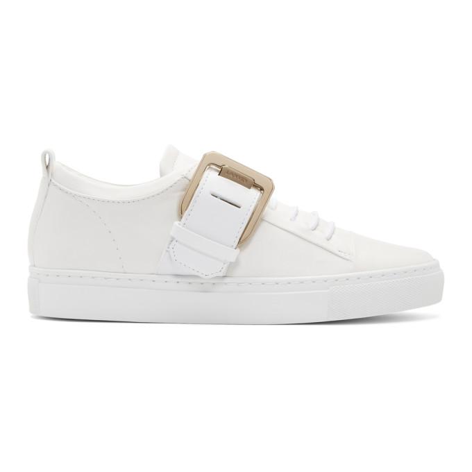 Lanvin White Nappa Square Sneakers