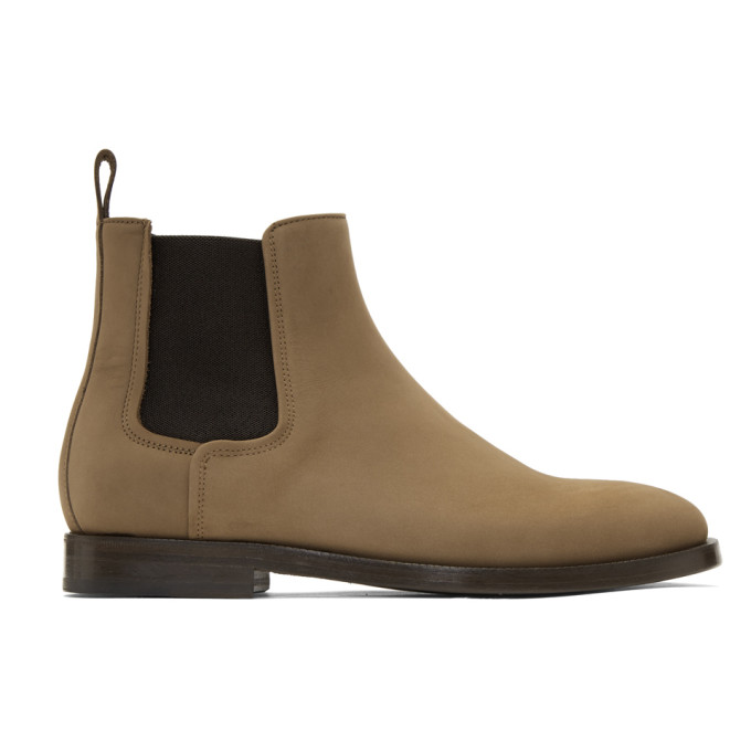 Lanvin Brown Nubuck Chelsea Boots