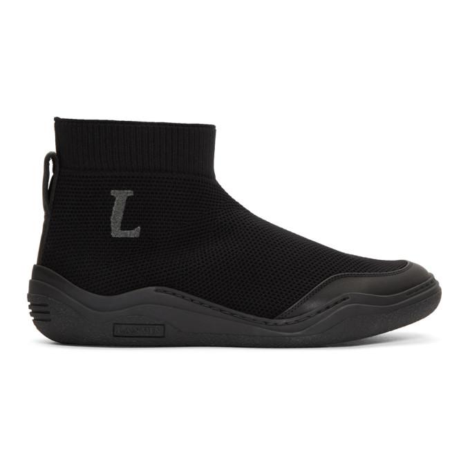Lanvin Black Mid-Top Sock Sneakers